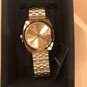 Nixon Women's Time Teller Gold Watch